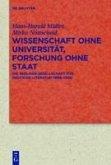 Wissenschaft ohne Universität, Forschung ohne Staat (eBook, PDF)