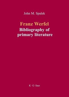 Franz Werfel: Bibliography of German Editions (eBook, PDF)