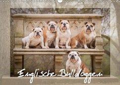Englische Bulldoggen (Wandkalender 2018 DIN A3 quer) - Wobith, Sabrina