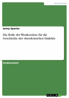Die Rolle der Wenkersätze für die Geschichte der oberdeutschen Dialekte (eBook, PDF)