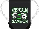 Minecraft - Keep Calm and Game On - Sporttasche, Turnbeutel, Gymbag