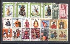 Briefmarken Trachten und Uniformen
