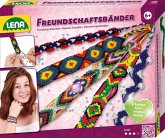 LENA® 42686 - Freundschaftsbänder Bastelset, Komplettset zum Flechten von Armbändern