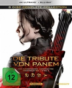 Die Tribute von Panem - Complete Collection (4K Ultra HD, 8 Discs) - Lawrence,Jennifer/Hutcherson,Josh