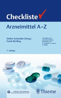 Checkliste Arzneimittel A - Z (eBook, PDF) - Schneider, Detlev; Richling, Frank