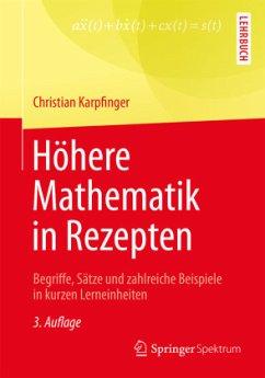 Höhere Mathematik in Rezepten - Karpfinger, Christian
