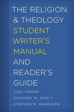 The Religion and Theology Student Writer´s Manu...