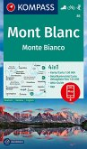 Kompass Karte Mont Blanc, Monte Bianco