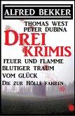 Bekker/West/Dubina - Drei Krimis: Feuer und Flamme/Blutiger Traum vom Glück/Die zur Hölle fahren (eBook, ePUB)