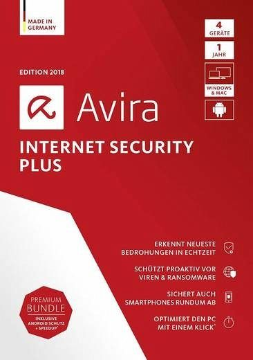 Avira Internet Security Plus 2018 - 4 Geräte, 1 DVD-ROM