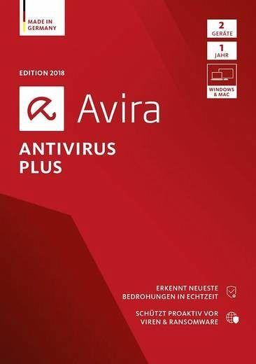 Avira AntiVirus Plus 2018 - 2 Geräte, 1 DVD-ROM