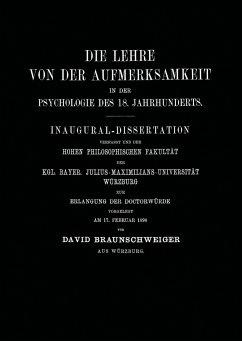 Die Lehre von der Aufmerksamkeit in der Psychologie des 18. Jahrhunderts