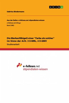 """Die Markenfähigeit einer """"Farbe als solcher"""" im Sinne der Artt. 3 E-MRL, 4 E-GMV"""