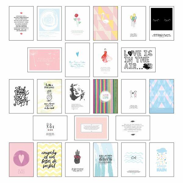 postkartenset sprüche Postkarten Set   Postkarten Sprüche mit 25 hochwertigen versch  postkartenset sprüche