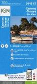 IGN Karte, Carte de randonnée (et plein air) Cannes, Grasse, Côte d'Azur