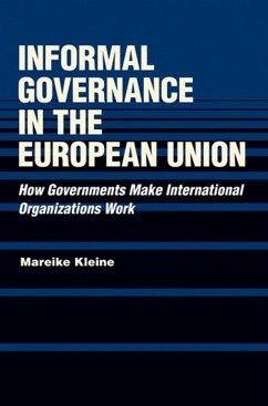 Informal Governance in the European Union (eBook, ePUB)