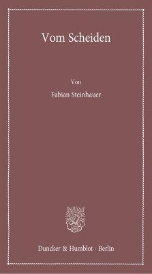 Vom Scheiden. (eBook, PDF) - Steinhauer, Fabian