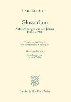 Glossarium. (eBook, PDF) - Schmitt, Carl