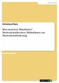 Was motiviert Mitarbeiter? Motivationstheorien, Maßnahmen zur Motivationsförderung (eBook, PDF)