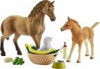 Schleich 42432 - Horse Club, Sarahs Tierbaby-Pflege, Pferde