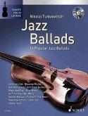 Jazz Ballads, für Violine, m. Audio-CD