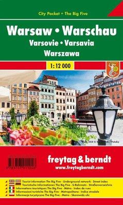 Freytag & Berndt Stadtplan Warschau / Warsaw / Varsovie / Varsavia / Warszawa