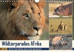 Wildtierparadies Afrika - Eine Foto-Reise durch die Savannen (Wandkalender 2018 DIN A4 quer) Dieser erfolgreiche Kalender wurde dieses Jahr mit gleichen Bildern und aktualisiertem Kalendarium wiederveröffentlicht.