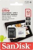 SanDisk Ultra microSDHC UHS 32GB 80MB/s+Adapt. SDSQUNS-032G-GN6TA