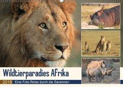 Wildtierparadies Afrika - Eine Foto-Reise durch die Savannen (Wandkalender 2018 DIN A2 quer) Dieser erfolgreiche Kalender wurde dieses Jahr mit gleichen Bildern und aktualisiertem Kalendarium wiederveröffentlicht.