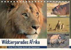 Wildtierparadies Afrika - Eine Foto-Reise durch die Savannen (Tischkalender 2018 DIN A5 quer) Dieser erfolgreiche Kalender wurde dieses Jahr mit gleichen Bildern und aktualisiertem Kalendarium wiederveröffentlicht.
