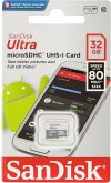 SanDisk Ultra microSDHC 32GB 80MB/s Cl. 10 SDSQUNS-032G-GN3MN