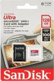 SanDisk Ultra microSDXC 128GB 100MBs Adapt. SDSQUAR-128G-GN6IA