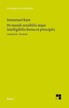 De mundi sensibilis atque intelligibilis forma et principiis (eBook, PDF) - Kant, Immanuel