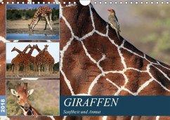 Giraffen - Sanftheit und Anmut (Wandkalender 2018 DIN A4 quer) Dieser erfolgreiche Kalender wurde dieses Jahr mit gleichen Bildern und aktualisiertem Kalendarium wiederveröffentlicht.