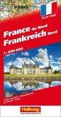Hallwag Straßenkarte Frankreich Nord