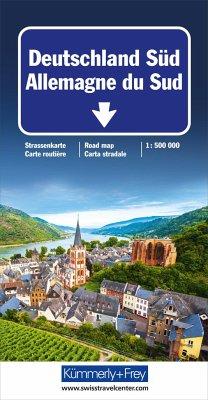 Kümmerly & Frey Straßenkarte Deutschland Süd; A...