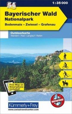 Kümmerly & Frey Outdoorkarte Bayerischer Wald, ...