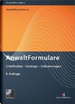 AnwaltFormulare - Werber, Wolfgang; Schmitz, Katja; Walchner, Wolfgang; Würfel, Wolfgang; Müller-Ibold, Till; Knapp, Wolfgang