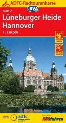 ADFC-Radtourenkarte Lüneburger Heide / Hannover