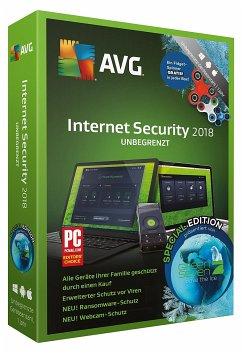 AVG Internet Security 2018 (mit Fidget-Spinner Gratis) - unbegrenzte Geräte/1 Jahr