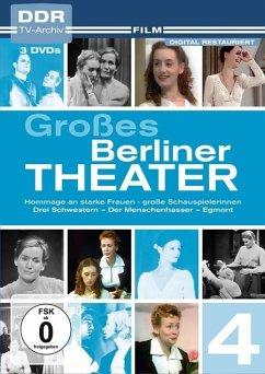 Großes Berliner Theater, Vol. 4: Hommage an starke Frauen – große Schauspielerinnen: Drei Schwestern - Der Menschenhasser - Egmont DVD-Box