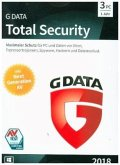 G Data Total Security 2018 3 PC, 1 CD-ROM
