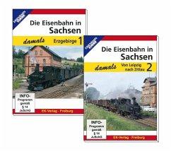 Die Eisenbahn in Sachsen damals. Tl.1+2, 2 DVDs