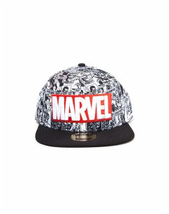 Marvel Snapback Cap All over Comic und Logo