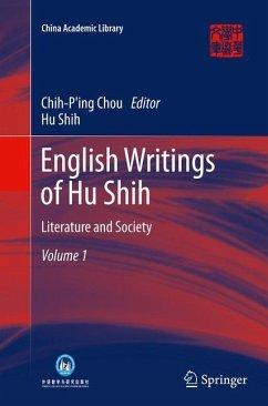 English Writings of Hu Shih - Shih, Hu