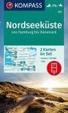 KOMPASS Wanderkarte Nordseeküste von Hamburg bis Dänemark