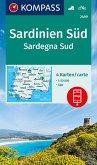 Kompass Karte Sardinien Süd, 4 Bl.; Sardegna Sud