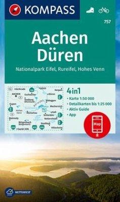 Kompass Karte Aachen, Düren, Nationalpark Eifel...