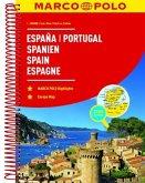 MARCO POLO Reiseatlas Spanien, Portugal 1:300 000; Espana, Portugal / Spain, Portugal / Espagne, Portugal