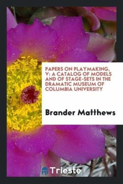 9780649315789 - Matthews, Brander: Papers on playmaking, V - Book